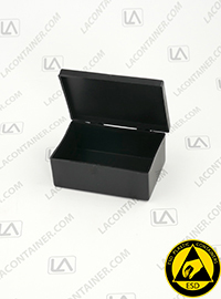 Laboxx 291910 Cas Black Conductive Antistatic Esd Plastic