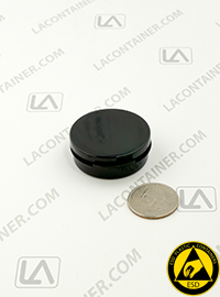 Lacons® 150600-O-CAS Black Conductive ESD Plastic Containers