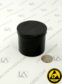 Lacons® 252150-CAS Black Conductive ESD Plastic Containers