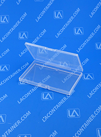 Lock-Cons LC372204 Hinged-Lid Plastic Boxes With Locking Latch Tabs