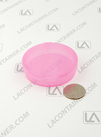 Lacons® 250675-ASP Round Hinged-Lid Plastic Anti Static Pink Container