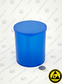 Statcons SC4015-BAS Blue Static Dissipative ESD Plastic Container