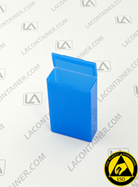 Flex-A-Top FT9-BAS Small Blue Static Dissipative Plastic Box