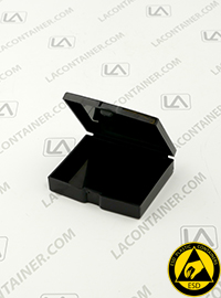 Flex-A-Top SB23195-CAS Small Black Conductive ESD Plastic Box