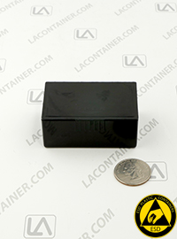Flex-A-Top FT14-CAS Small Black Conductive ESD Plastic Box