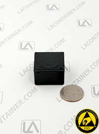 Flex-A-Top FT3-CAS Small Black Conductive ESD Plastic Box