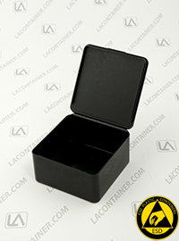 Flex-A-Top FT33-CAS Small Black Conductive ESD Plastic Box