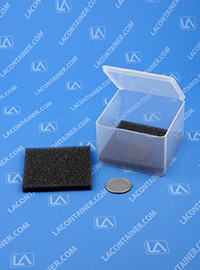 FT49SF Grey Soft Foam Inserts For FT49 Square Containers 100/Box