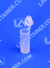 Polyvials EP2100 Small Hinged-Lid Lab Vials