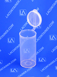 Polyvials EP2510 Small Hinged-Lid Lab Vials