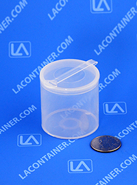 Polyvials EP2516 Small Hinged-Lid Lab Vials