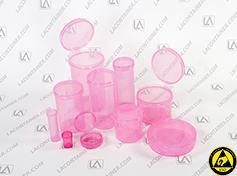 Anti Static Pink Polypropylene Containers