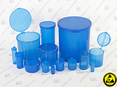 Blue Static Dissipative Polypropylene Containers