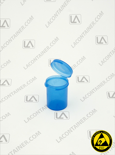 Lacons® 121500-BAS Blue Static Dissipative ESD Plastic Containers