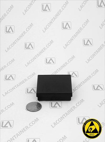 Laboxx 202005-CAS Black Conductive Antistatic ESD Plastic Boxes