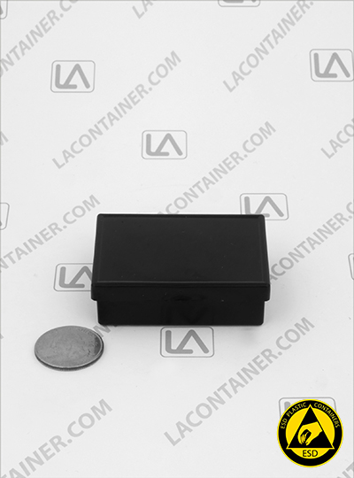 Laboxx 221606-CAS Black Conductive Antistatic ESD Plastic Boxes