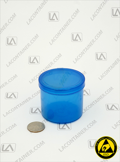 Lacons® 252150-BAS Blue Static Dissipative ESD Plastic Containers