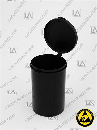 Lacons® 253800-CAS Black Conductive ESD Plastic Containers
