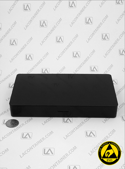 Flex-A-Top FT123-CAS Small Black Conductive ESD Plastic Box