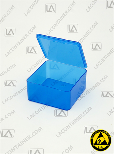 Flex-A-Top FT33-BAS Small Blue Static Dissipative Plastic Box