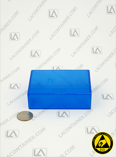 Flex-A-Top FT38-BAS Small Blue Static Dissipative Plastic Box