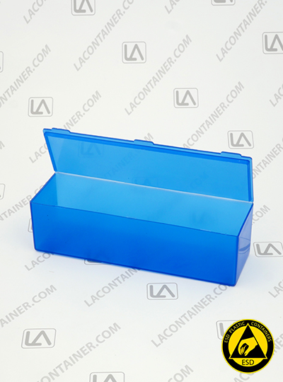 Flex-A-Top FT40-BAS Small Blue Static Dissipative Plastic Box