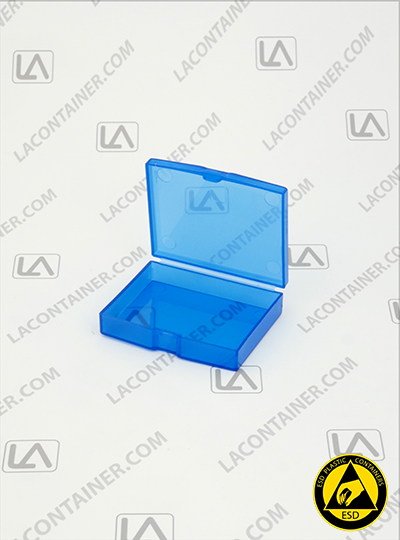 Flex-A-Top SB23195-BAS Small Blue Static Dissipative Plastic Box