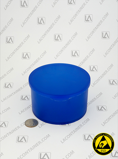 Statcons SC4014-BAS Blue Static Dissipative ESD Plastic Container