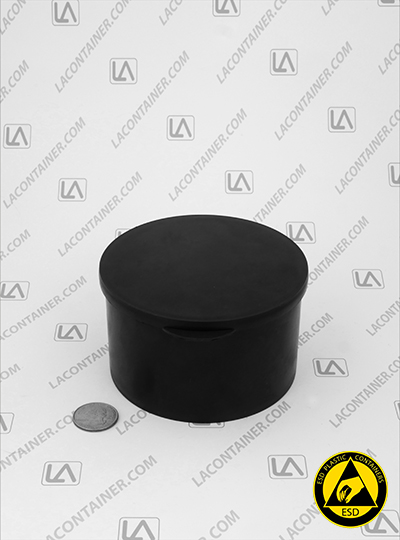 Statcons SC4014-CAS Black Conductive ESD Plastic Container
