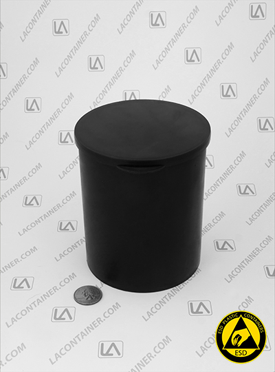 Statcons SC4015-CAS Black Conductive ESD Plastic Container