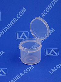 Lacons® 121075 Hinged-Lid Plastic Container
