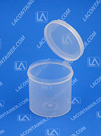 Lacons® 252500 Hinged-Lid Plastic Container