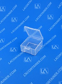 Lock-Cons LC171709 Hinged-Lid Plastic Boxes With Locking Latch Tabs
