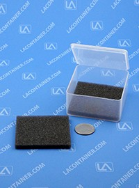 FT33SF Grey Soft Foam Inserts For FT33 Square Containers 100/Box