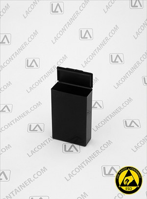 Flex-A-Top FT9-CAS Small Black Conductive ESD Plastic Box