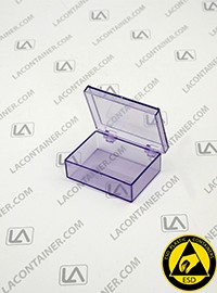 Laboxx 221606-BAS Blue Static Dissipative ESD Plastic Boxes